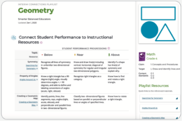Example of a Geometry-focused Interim Connections Playlist, which uses student performance on interim assessment blocks (IABs).