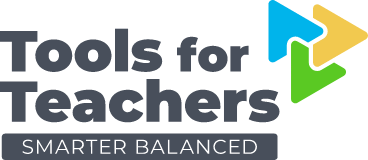 Tools for Teachers by Smarter Balanced logo.