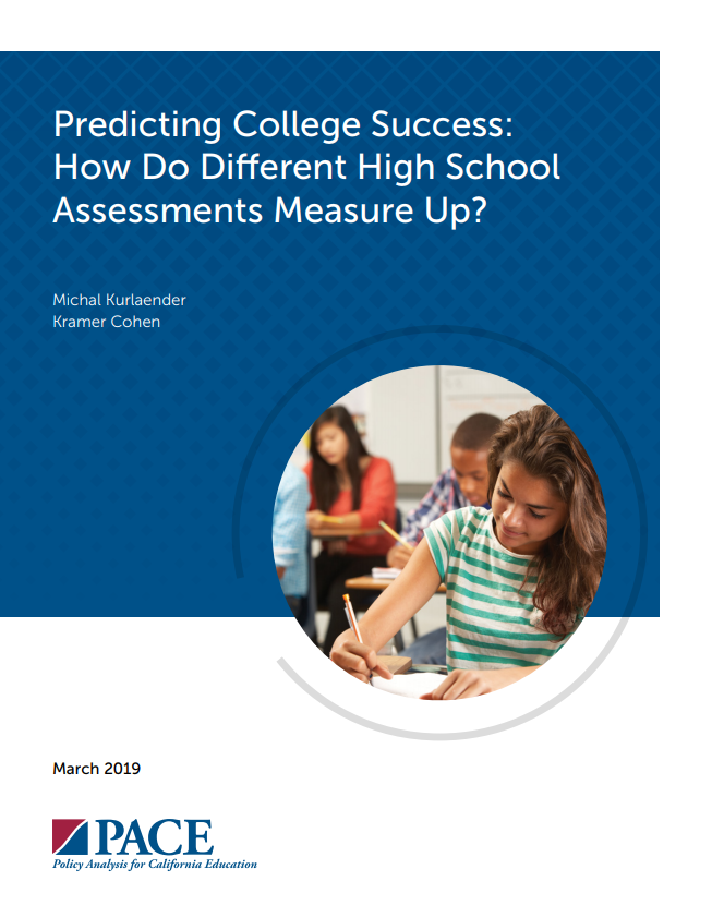 Pace Study Cover: Smarter Balanced is Comparable Indicator of College Success.