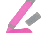Icon illustration of a pink highlighter marker.
